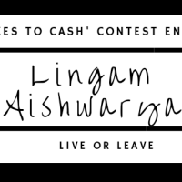 'Likes to Cash' contest entry- Lingam Aishwarya (Live or Leave)