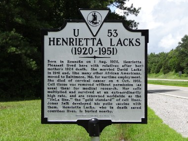 Henrietta-Lacks-historical-marker-in-Clover-VA-Emw-1